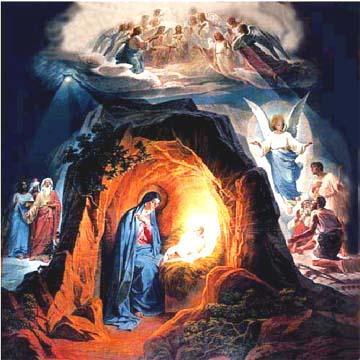 Рождество Христово. Заалтарная роспись Храма Христа Спасителя. Фото с сайта: www.xxc.ru